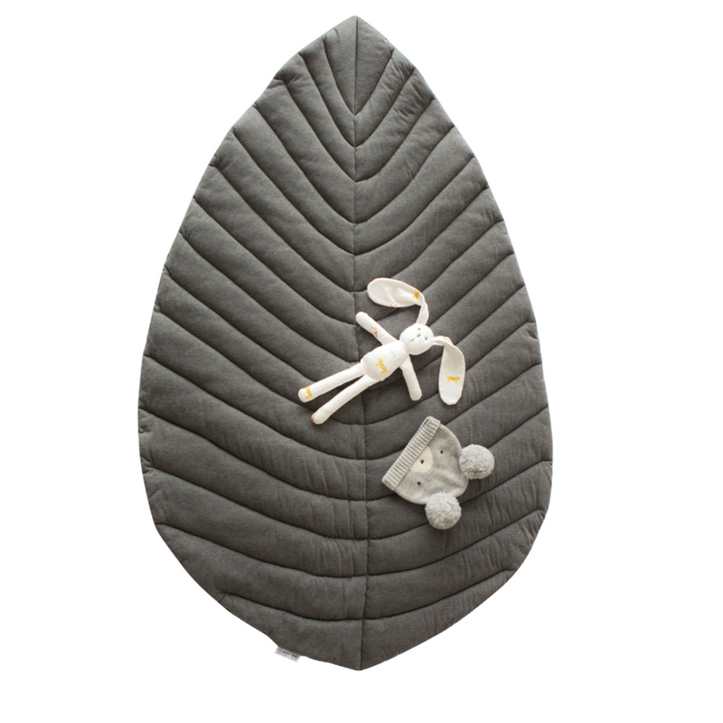 Opal Leaf Grey Play Mat - Cattywampus