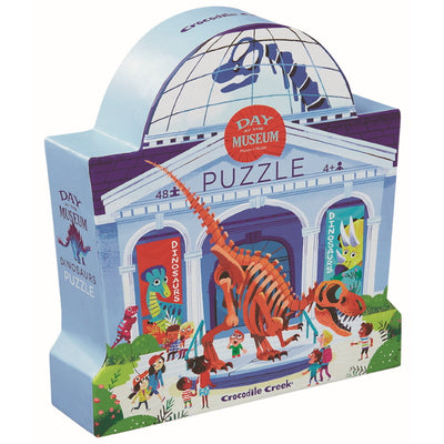Dinosaurs Day at the Museum 48pc Puzzle - Crocodile Creek