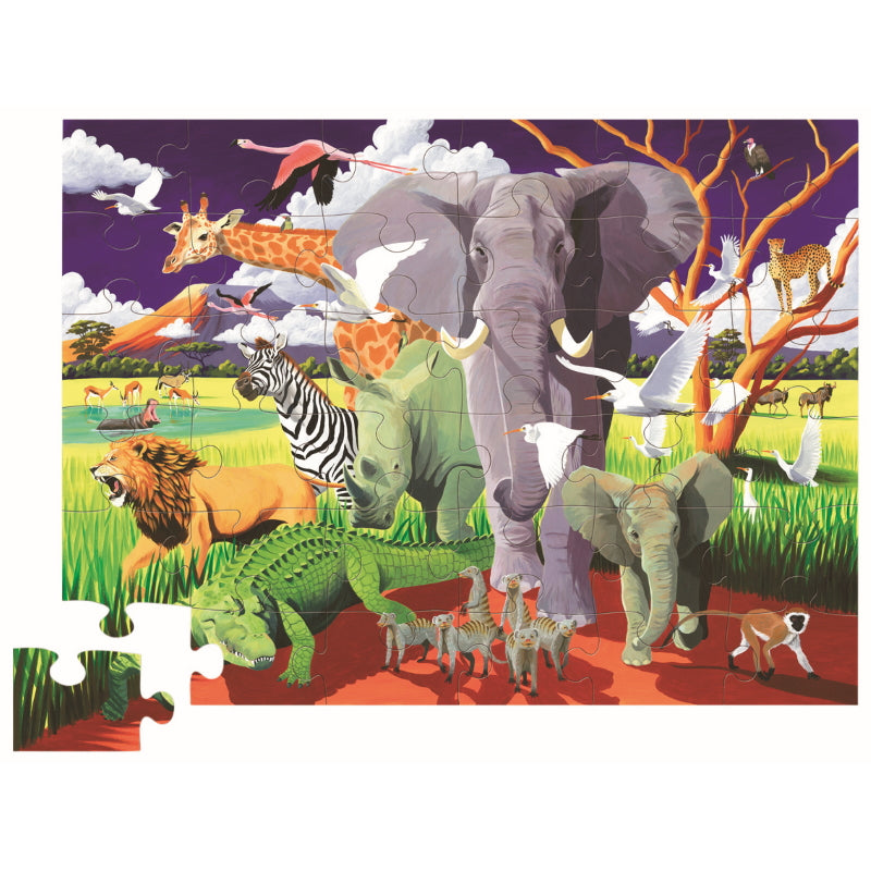 Wild Safari 36pc Floor Puzzle - Crocodile Creek