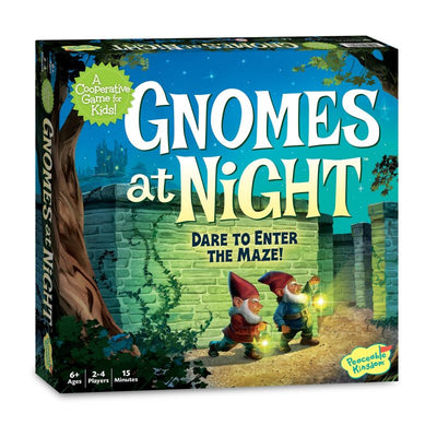 Gnomes At Night Co-Op Board Game - Peaceable Kingdom