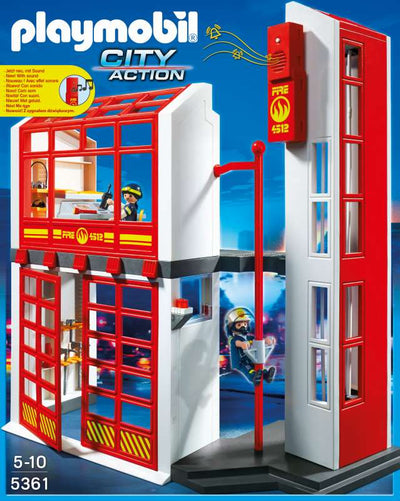 Fire Station with Alarm - Playmobil