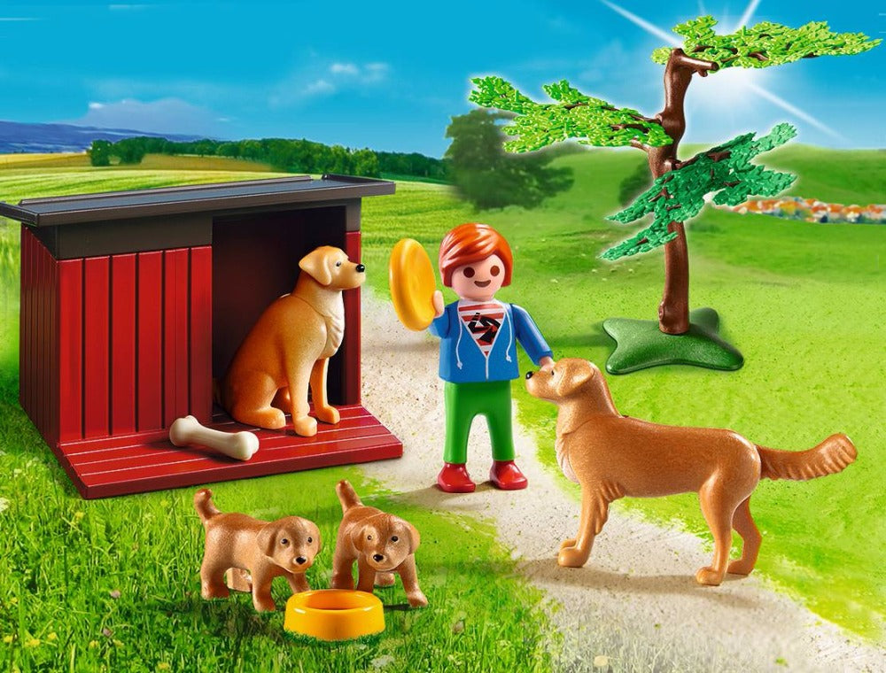 Golden Retrievers with Boy - Playmobil