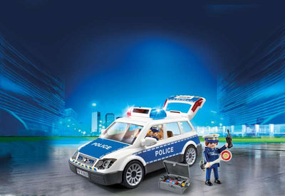 Police Squad Car with Lights and Sound - Playmobil