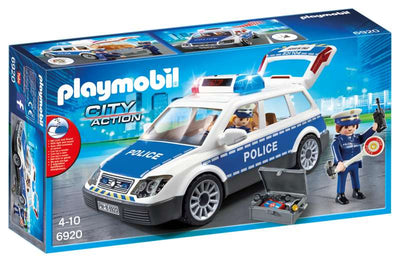 Police Squad Car with Lights and Sound - Playmobil box