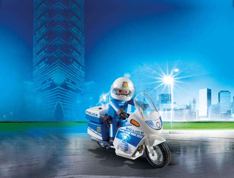 Police Bike with LED Light - Playmobil