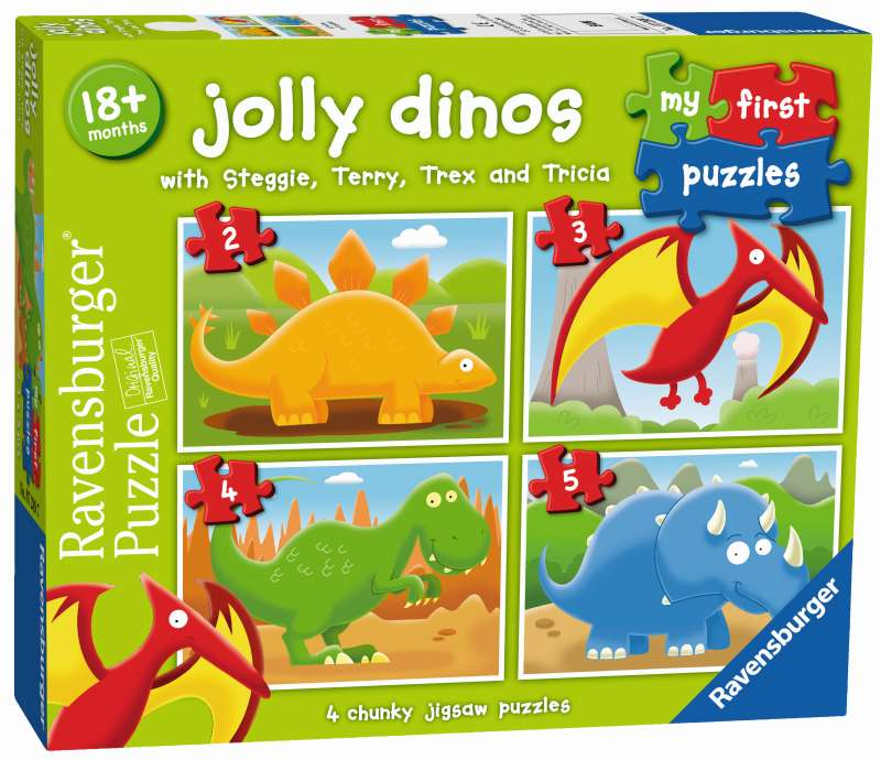 Jolly Dinos 4 My First Puzzles - Ravensburger