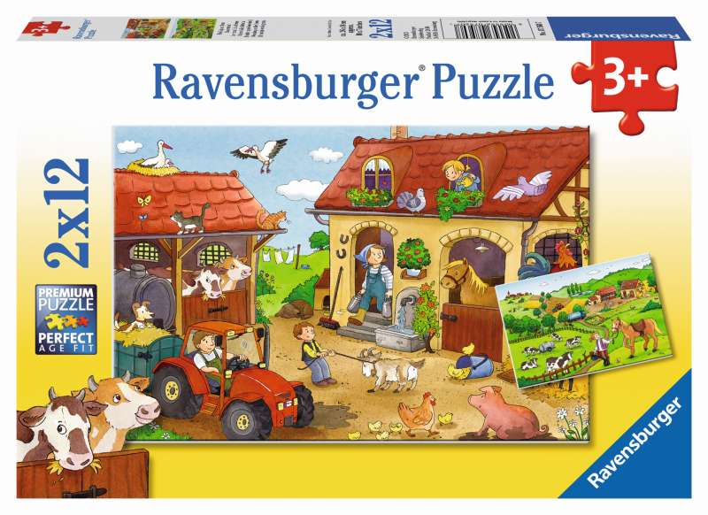 Working on the Farm 2x12pc Puzzles - Ravensburger
