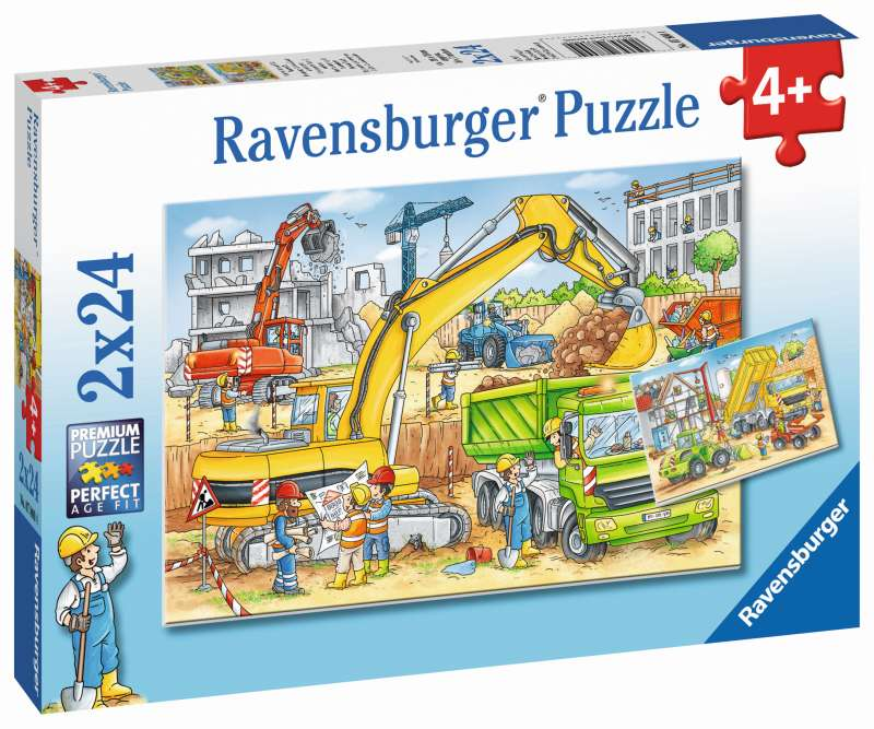 Hard at Work 2x24pc Puzzles - Ravensburger