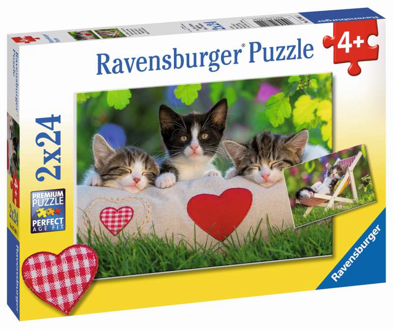 Sleepy Kittens Puzzle 2x24pc - Ravensburger