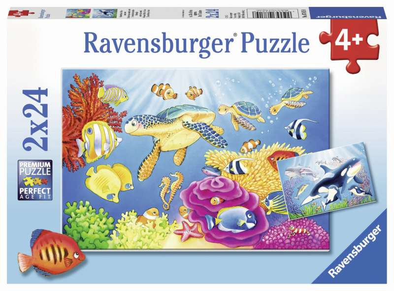 Colourful Underwater Puzzle 2x24pc - Ravensburger