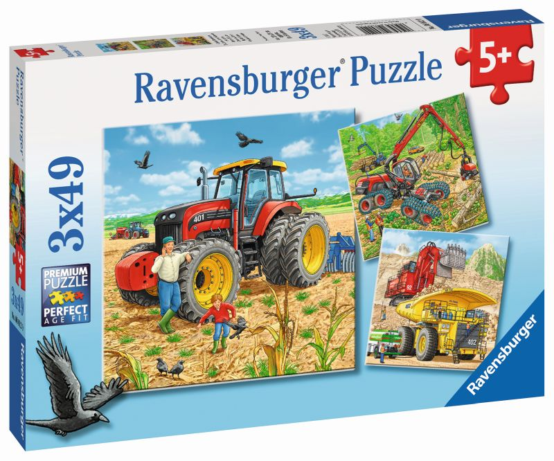 Big Machines 3x49pc Puzzles - Ravensburger