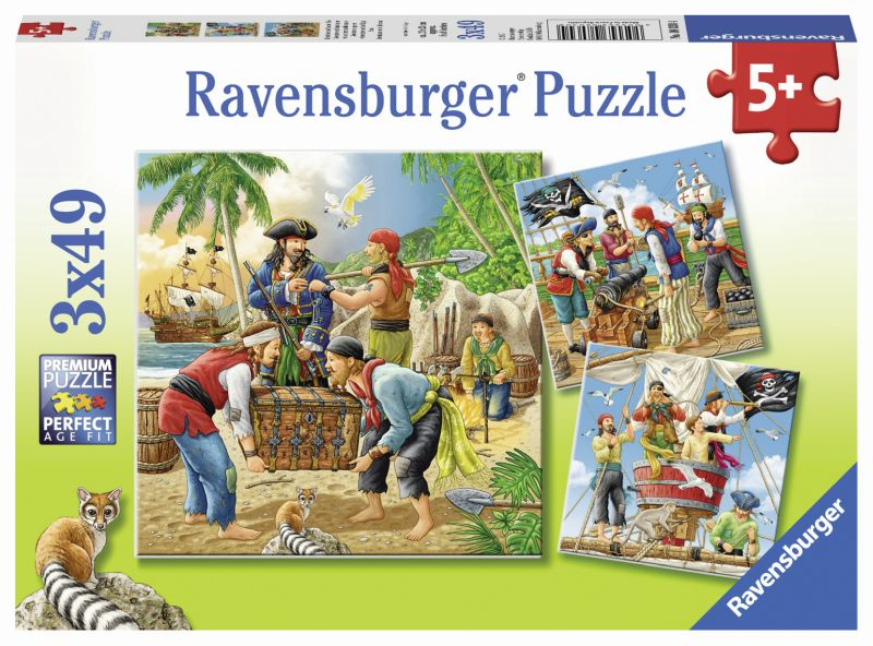 Adventure on the High Seas 3x49pc Puzzles - Ravensburger