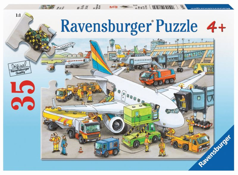 Busy Airport 35pc Puzzle - Ravensburger