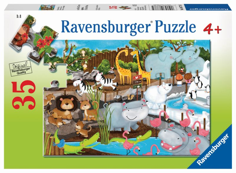 Day at the Zoo 35pc Puzzle - Ravensburger