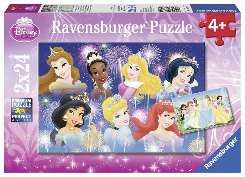 Disney The Princesses Gathering 2x24pc Puzzle - Ravensburger