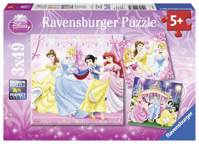 Disney Snow White 3x49pc Puzzle - Ravensburger