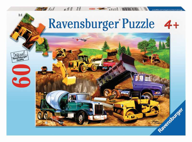 Construction Crowd Puzzle 60pc - Ravensburger