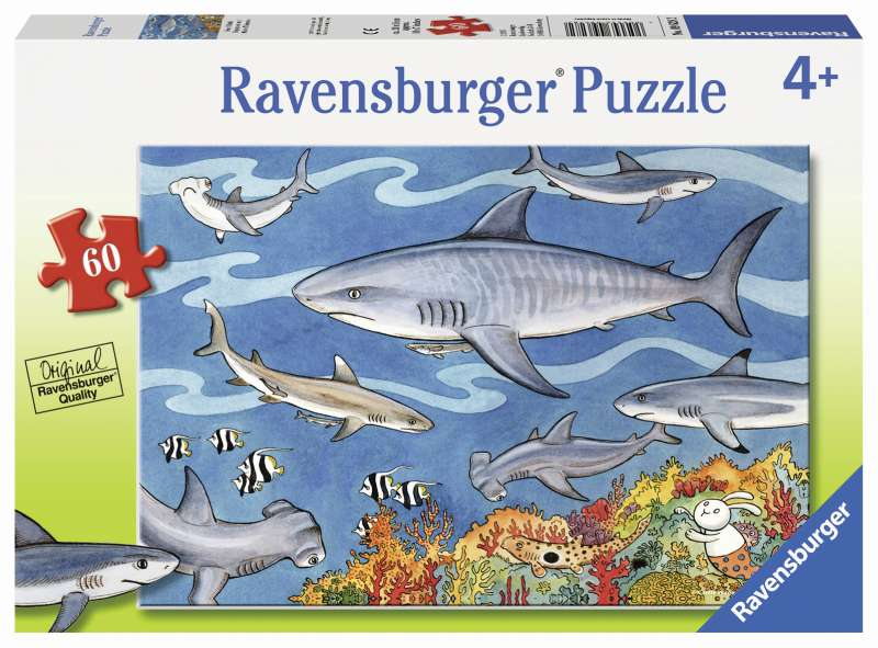 Sea of Sharks Puzzle 60pc - Ravensburger