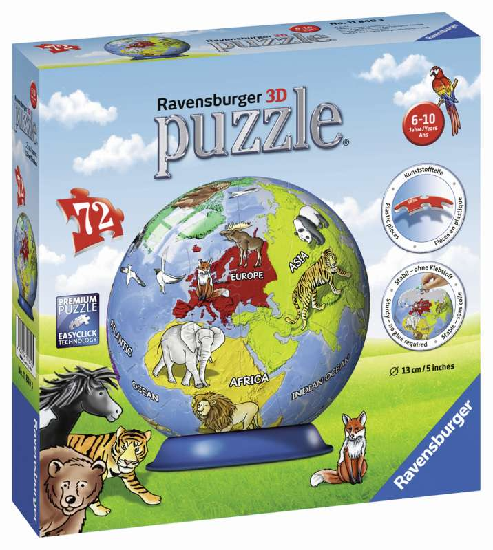 Childrens Globe 72pc 3D Puzzle - Ravensburger