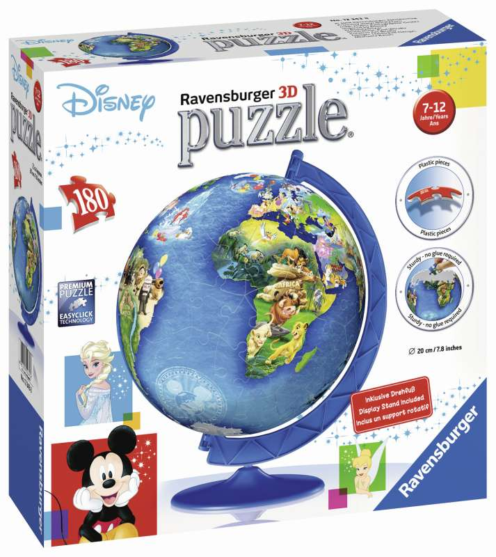 Disney Globe 180pc 3D Puzzle - Ravensburger