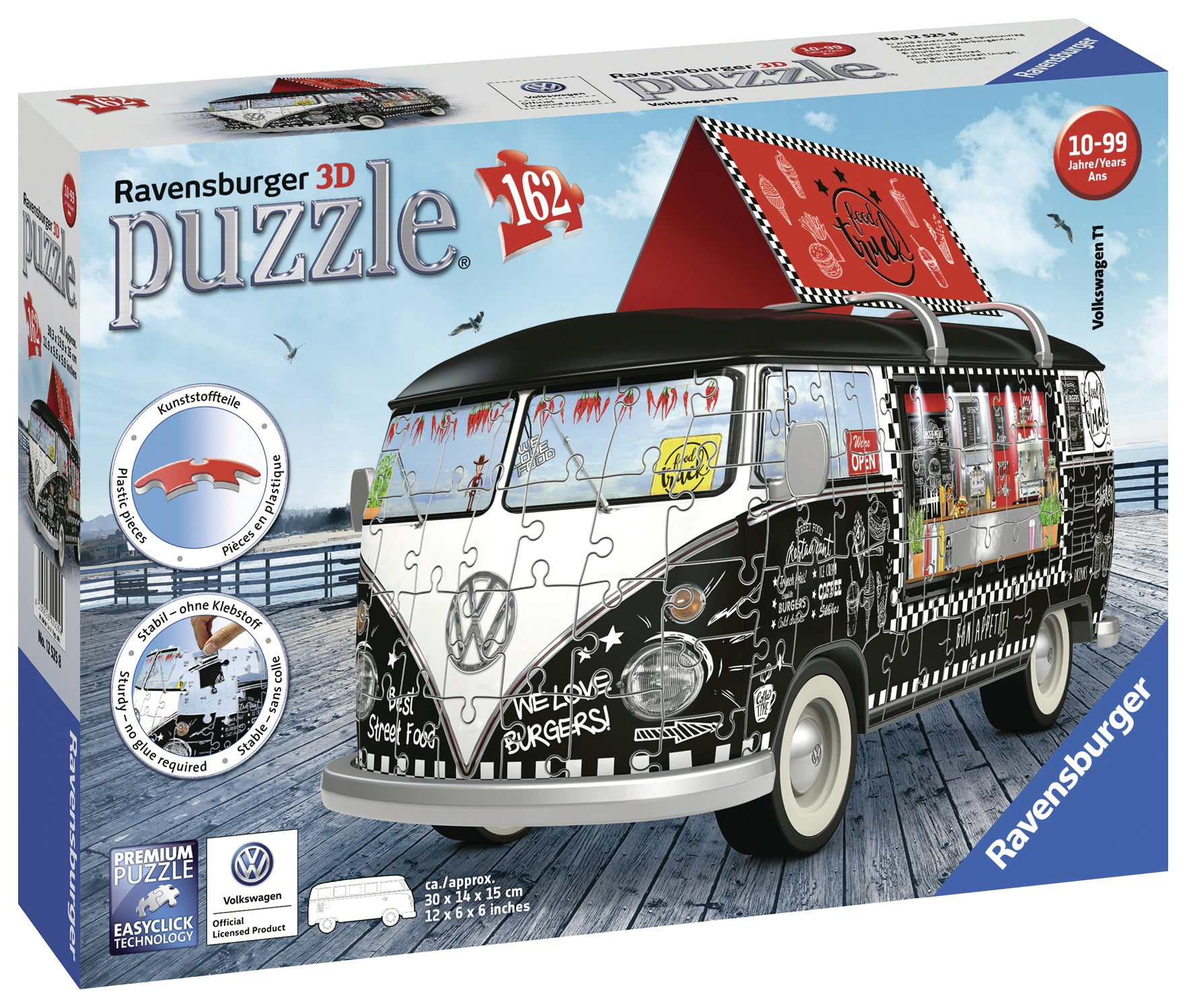 VW Kombi Food Truck 162pc 3D Puzzle - Ravensburger