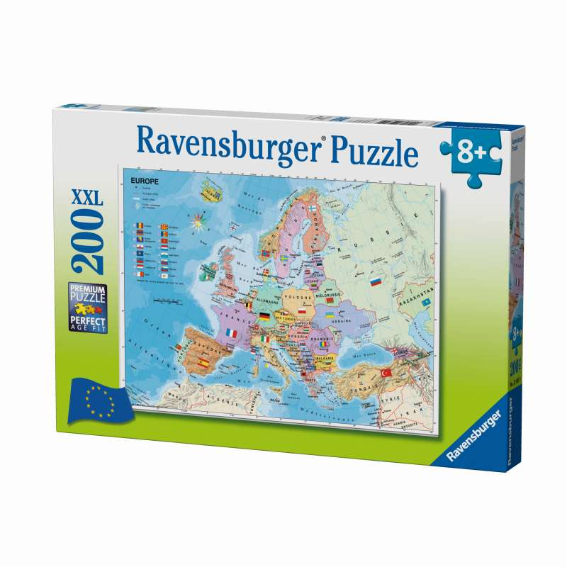 European Map 200pc Puzzle - Ravensburger