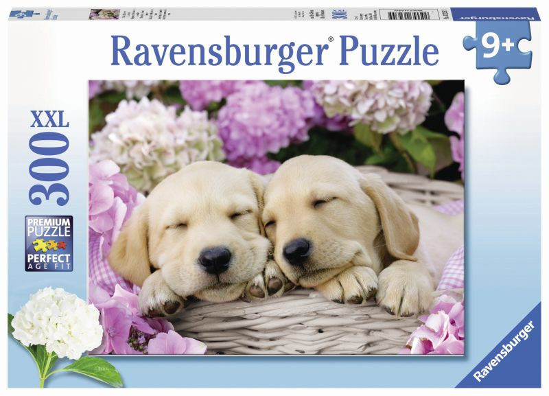 Sweet Dogs in Basket 300pc Puzzle - Ravensburger