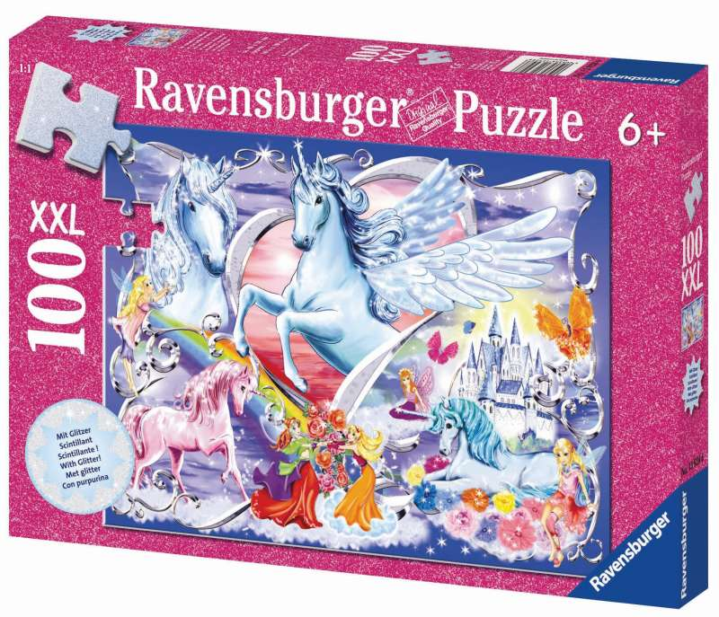 Amazing Unicorns Glitter Puzzle 100pc - Ravensburger