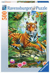 Tiger in the Jungle Puzzle 500pc - Ravensburger