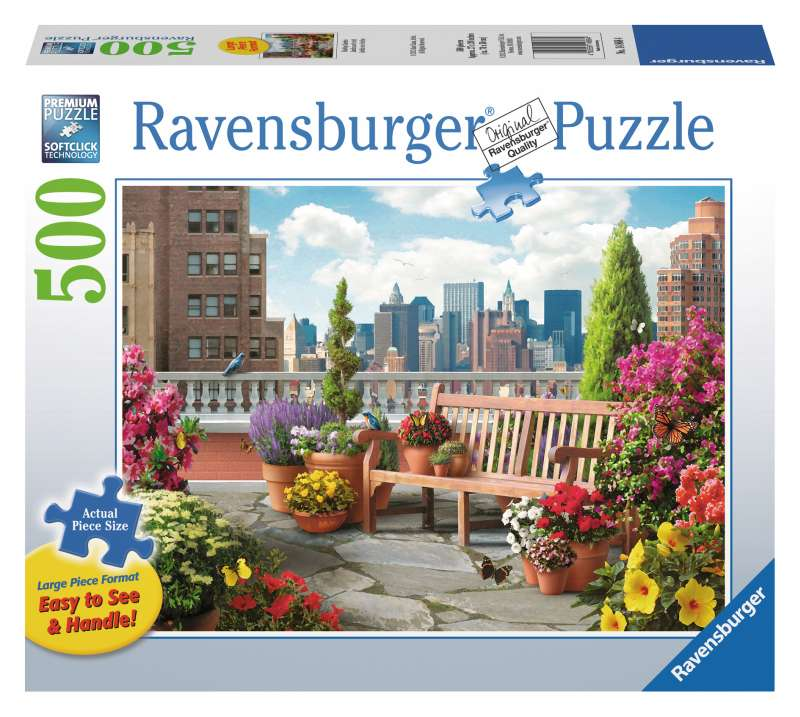 Rooftop Garden Large Format 500pc Puzzle - Ravensburger