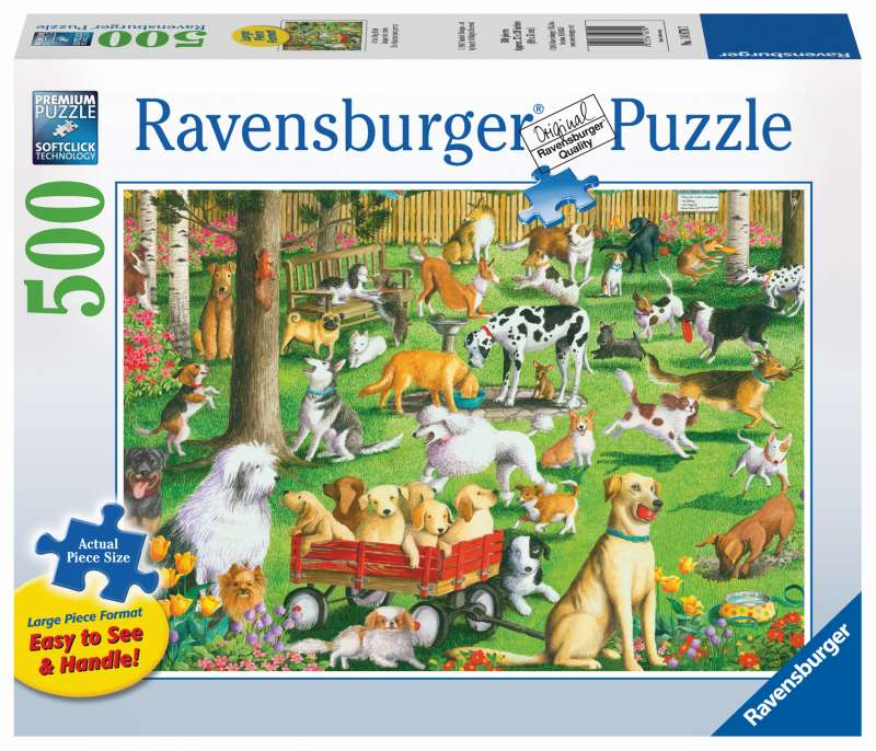 At the Dog Park Large Format 500pc Puzzle - Ravensburger