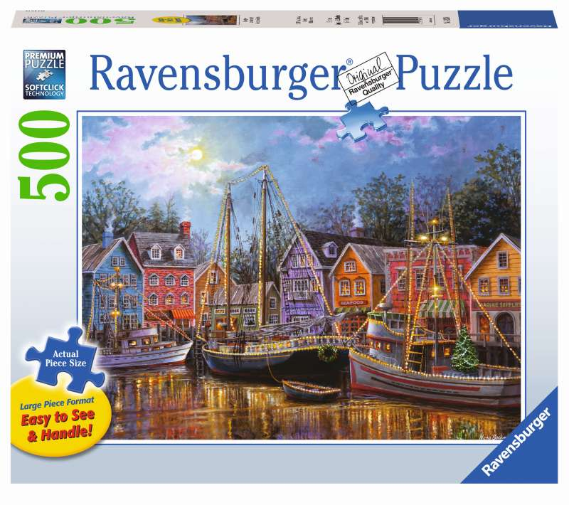 Ships Aglow Large Format 500pc Puzzle - Ravensburger