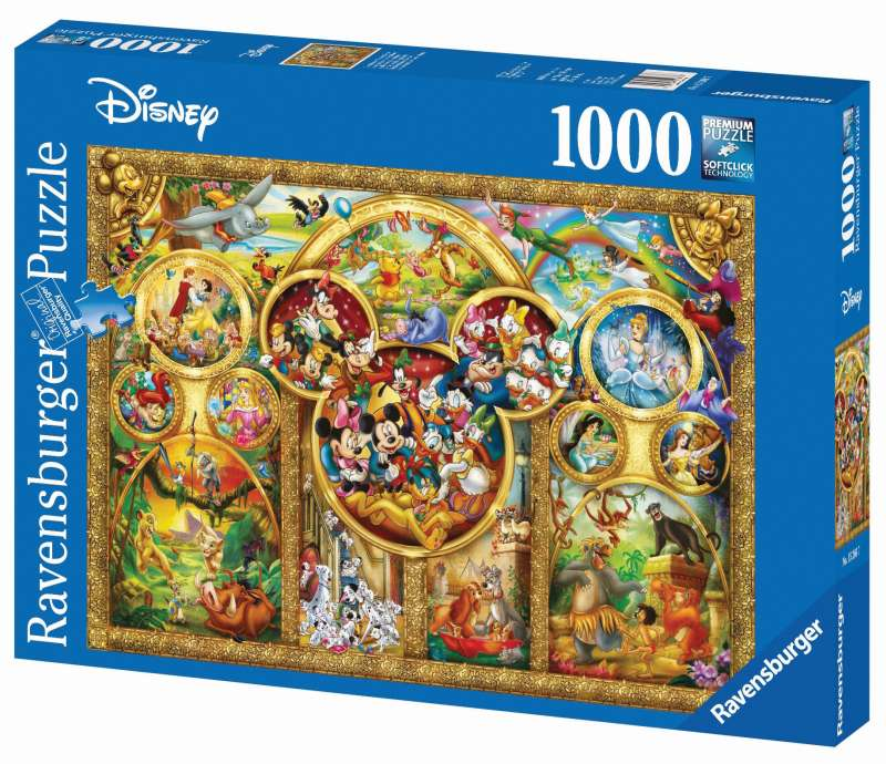 Disney Best Themes Puzzle 1000pc - Ravensburger