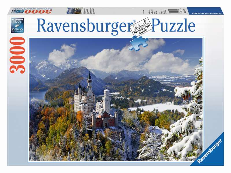 Neuschwanstein Winter Puzzle 3000pc - Ravensburger