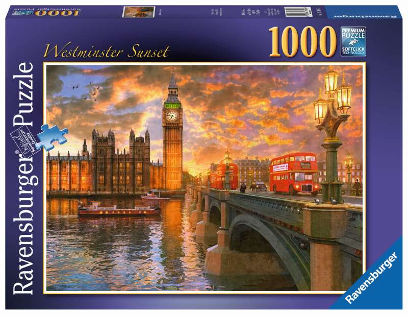 Westminster Sunset Puzzle 1000pc - Ravensburger