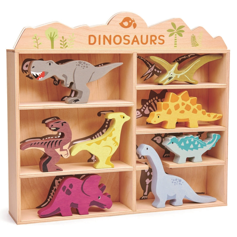 Dinosaurs in Shadow Box - Tender Leaf Toys