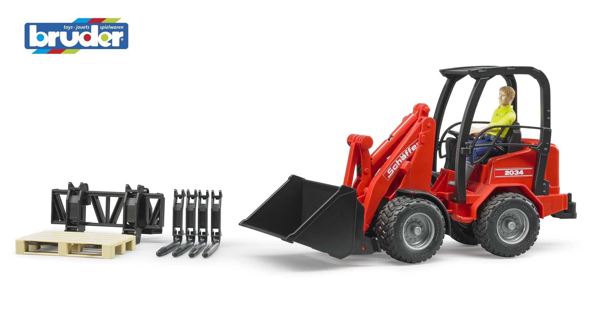 Shaffer compact Loader 2034 w/figure and acc 1:16 - Bruder