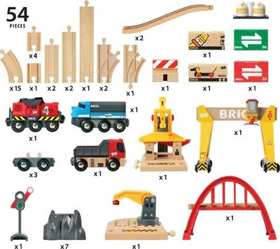 Cargo Railway Deluxe Train Set - Brio - contents