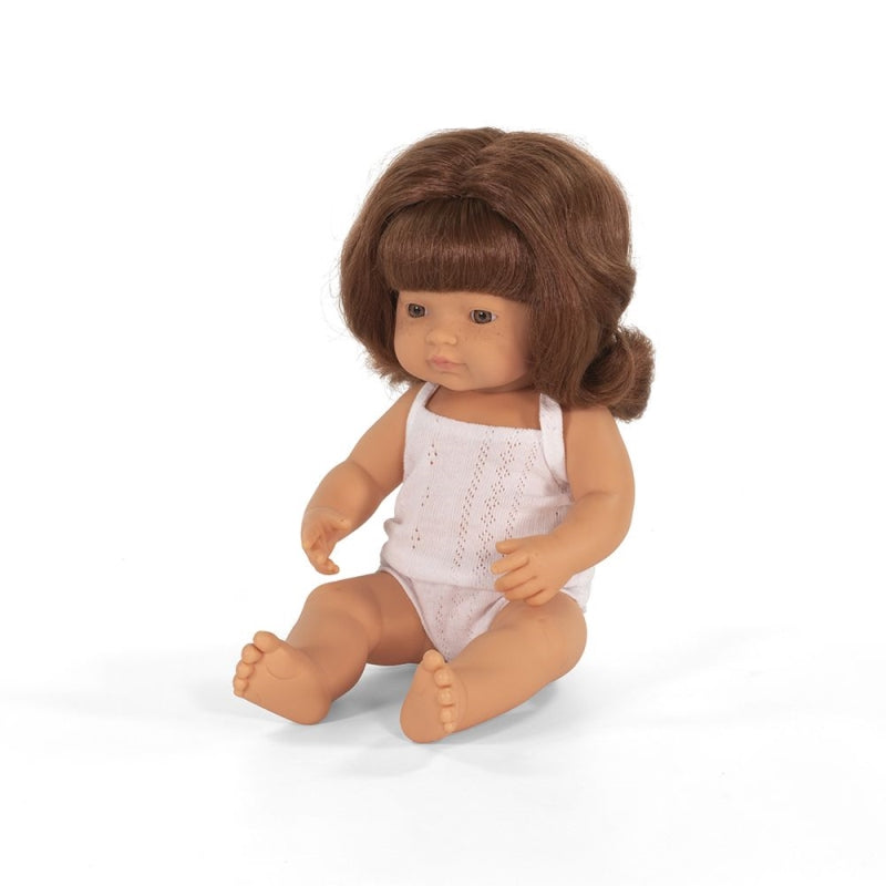 Caucasian Girl Red Hair 38cm Baby Doll - Miniland