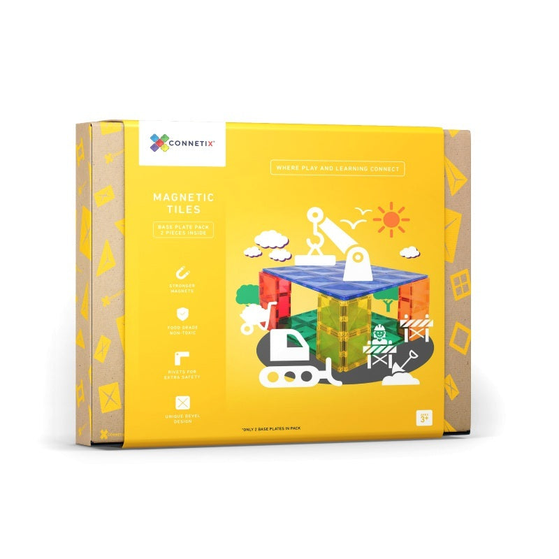 Base Plate Pack 2pc Magnetic Tiles - Connetix