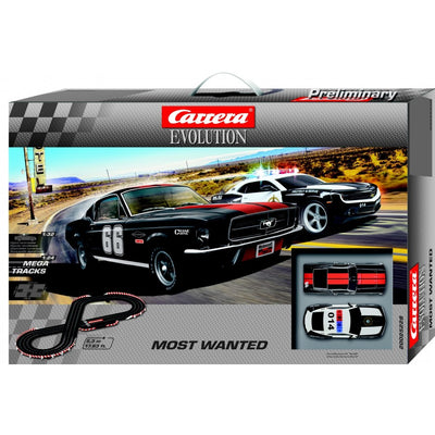Most Wanted Mustang and Camaro Sheriff Slot Car Set - Carrera Evolution