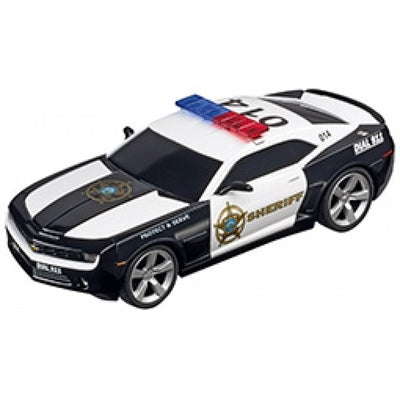 Most Wanted Mustang & Camaro Sheriff Slot Car Set - Carrera Evolution