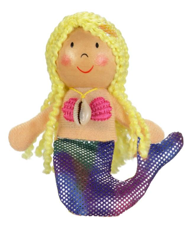Mermaid Finger Puppet - Fiesta Crafts