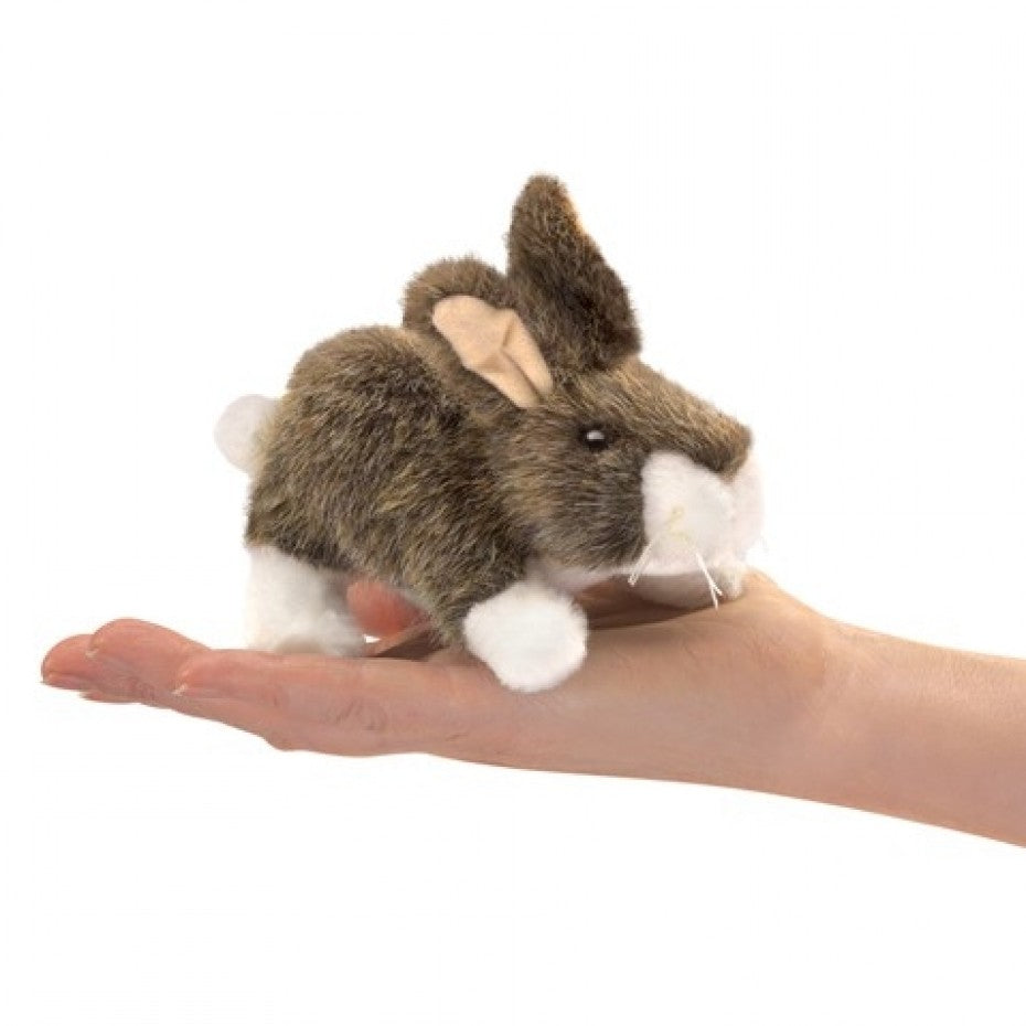 Mini Cottontail Rabbit Finger Puppet - Folkmanis