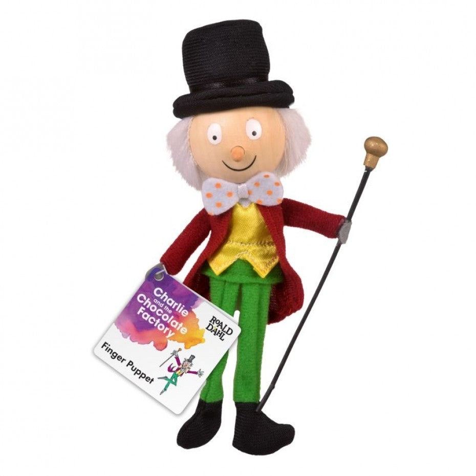 Willy Wonka Finger Puppet Roald Dahl - Fiesta Crafts