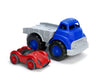 Flatbed with Red Race Car - Green Toys
