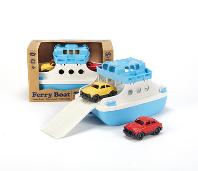 Ferry Boat with 2 Mini Cars - Green Toys