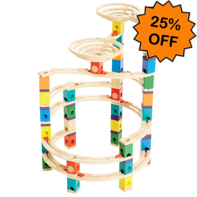 Quadrilla Cyclone Marble Run 198pc - Hape Click Frenzy