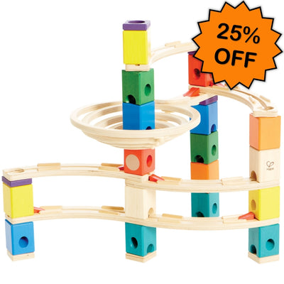 Quadrilla Whirlpool Marble Run 106pc - Hape Click Frenzy