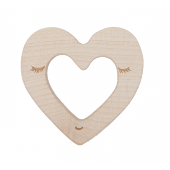 Heart Teether - Wooden Story